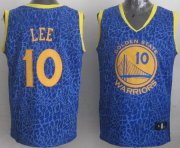 Wholesale Cheap Golden State Warriors #10 David Lee Blue Leopard Print Fashion Jersey