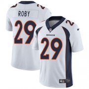 Wholesale Cheap Nike Broncos #29 Bradley Roby White Men's Stitched NFL Vapor Untouchable Limited Jersey