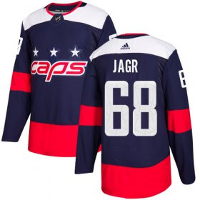 Wholesale Cheap Adidas Capitals #68 Jaromir Jagr Navy Authentic 2018 Stadium Series Stitched NHL Jersey