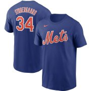 Wholesale Cheap New York Mets #34 Noah Syndergaard Nike Name & Number T-Shirt Royal