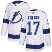 Cheap Adidas Lightning #17 Alex Killorn White Road Authentic Youth Stitched NHL Jersey