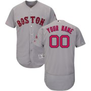 Wholesale Cheap Boston Red Sox Majestic Road Flex Base Authentic Collection Custom Jersey Gray