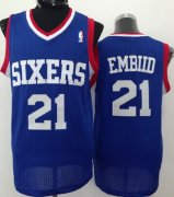 Wholesale Cheap Philadelphia 76ers #21 Joel Embiid Blue Swingman Jersey