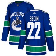Wholesale Cheap Adidas Canucks #22 Daniel Sedin Blue Home Authentic Youth Stitched NHL Jersey