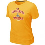 Wholesale Cheap Women's San Francisco 49ers Super Bowl XLVII Heart & Soul T-Shirt Yellow