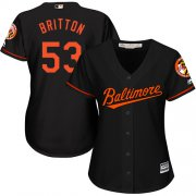 Wholesale Cheap Orioles #53 Zach Britton Black Alternate Women's Stitched MLB Jersey