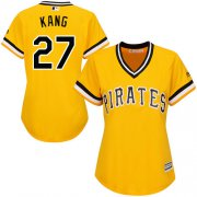 Wholesale Cheap Pirates #27 Jung-ho Kang Gold Alternate Women's Stitched MLB Jersey