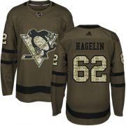 Wholesale Cheap Adidas Penguins #62 Carl Hagelin Green Salute to Service Stitched NHL Jersey