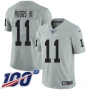 Wholesale Cheap Nike Raiders #11 Henry Ruggs III Silver Men's Stitched NFL Limited Inverted Legend 100th Season Jersey