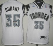 Wholesale Cheap Oklahoma City Thunder #35 Kevin Durant Revolution 30 Swingman White With Black Jersey