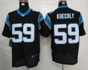 Wholesale Nike Panthers #59 Luke Kuechly Black Team Color Men's Stitched NFL Elite Jersey