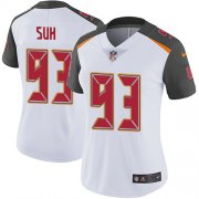 Wholesale Cheap Nike Buccaneers #93 Ndamukong Suh White Women's Stitched NFL Vapor Untouchable Limited Jersey