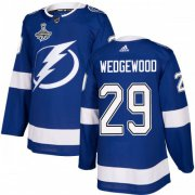 Cheap Adidas Lightning #29 Scott Wedgewood Blue Home Authentic Youth 2020 Stanley Cup Champions Stitched NHL Jersey