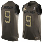 Wholesale Cheap Nike Redskins #9 Sonny Jurgensen Green Men's Stitched NFL Limited Salute To Service Tank Top Jersey