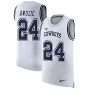 Wholesale Cheap Nike Cowboys #24 Chidobe Awuzie White Men's Stitched NFL Limited Rush Tank Top Jersey