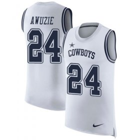 Wholesale Cheap Nike Cowboys #24 Chidobe Awuzie White Men\'s Stitched NFL Limited Rush Tank Top Jersey