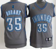 Wholesale Cheap Oklahoma City Thunder #35 Kevin Durant Gray Shadow Jersey