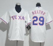 Wholesale Cheap Rangers #29 Adrian Beltre White Cool Base Stitched Youth MLB Jersey