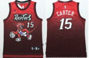 Wholesale Cheap Toronto Raptors #15 Vince Carter Red/Black Resonate Fashion Jersey