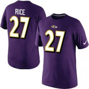 Wholesale Nike Baltimore Ravens #27 Ray Rice Pride Name & Number NFL T-Shirt Purple