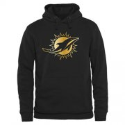 Wholesale Cheap Men's Miami Dolphins Pro Line Black Gold Collection Pullover Hoodie