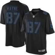 Wholesale Cheap Nike Colts #87 Reggie Wayne Black Men's Stitched NFL Impact Limited Jersey