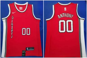 Wholesale Cheap Blazers #00 Carmelo Anthony Red 2019-20 Nike Swingman Jersey
