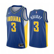 Wholesale Cheap Nike Pacers #3 Aaron Holiday Blue NBA Swingman 2020-21 City Edition Jersey