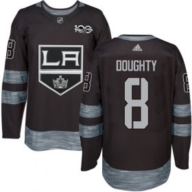 Wholesale Cheap Adidas Kings #8 Drew Doughty Black 1917-2017 100th Anniversary Stitched NHL Jersey