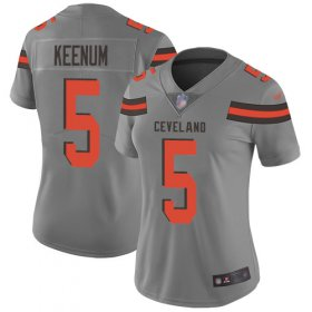 Wholesale Cheap Nike Browns #5 Case Keenum Gray Women\'s Stitched NFL Limited Inverted Legend Jersey