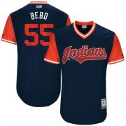 "Wholesale Cheap Indians #55 Roberto Perez Navy ""Bebo"" Players Weekend Authentic Stitched MLB Jersey"