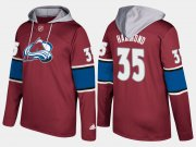Wholesale Cheap Avalanche #35 Andrew Hammond Burgundy Name And Number Hoodie