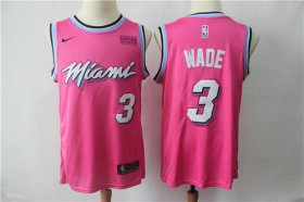 Wholesale Cheap Men\'s Miami Heat #3 Dwyane Wade Nike 2018 NBA Earned Edition Swingman Jersey