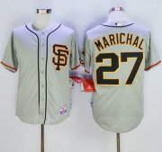 Wholesale Cheap Giants #27 Juan Marichal Grey Cool Base Stitched MLB Jersey