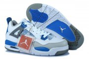 Wholesale Cheap Air Jordan 4 Womens Shoes blue/white-gray