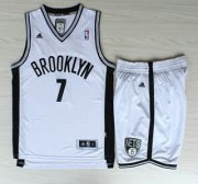 Wholesale Cheap Brooklyn Nets #7 Joe Johnson White Revolution 30 Swingman Jerseys Shorts NBA Suits