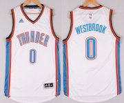 Wholesale Cheap Oklahoma City Thunder #0 Russell Westbrook Revolution 30 Swingman 2014 New White Jersey
