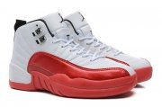 Wholesale Cheap Air Jordan 12 Cherry White/Varsity Red Black
