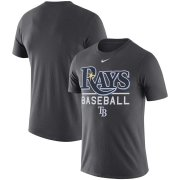 Wholesale Cheap Tampa Bay Rays Nike Practice Performance T-Shirt Anthracite