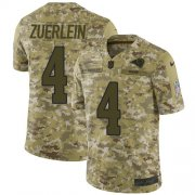 Wholesale Cheap Nike Rams #4 Greg Zuerlein Camo Men's Stitched NFL Limited 2018 Salute To Service Jersey