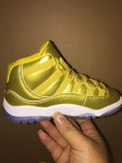 Wholesale Cheap Kid's Jordan 11 Retro Shoes Gold/White