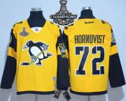 Wholesale Cheap Penguins #72 Patric Hornqvist Gold 2017 Stadium Series Stanley Cup Finals Champions Stitched NHL Jersey