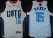 Wholesale Cheap Charlotte Bobcats #15 Kemba Walker Revolution 30 Swingman White Jersey