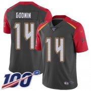 Wholesale Cheap Nike Buccaneers #14 Chris Godwin Gray Men's Stitched NFL Limited Inverted Legend 100th Season Jersey