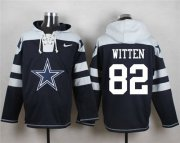 Wholesale Cheap Nike Cowboys #82 Jason Witten Navy Blue Player Pullover NFL Hoodie