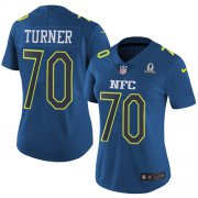 Wholesale Cheap Nike Panthers #70 Trai Turner Navy Women's Stitched NFL Limited NFC 2017 Pro Bowl Jersey