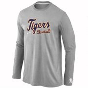 Wholesale Cheap Detroit Tigers Long Sleeve MLB T-Shirt Grey