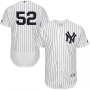 Wholesale Cheap Yankees #52 C.C. Sabathia White Strip Flexbase Authentic Collection Stitched MLB Jersey