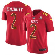 Wholesale Cheap Nike Chiefs #2 Dustin Colquitt Red Youth Stitched NFL Limited AFC 2017 Pro Bowl Jersey