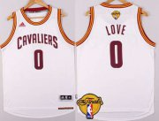 Wholesale Cheap Men's Cleveland Cavaliers #0 Kevin Love 2015 The Finals New White Jersey